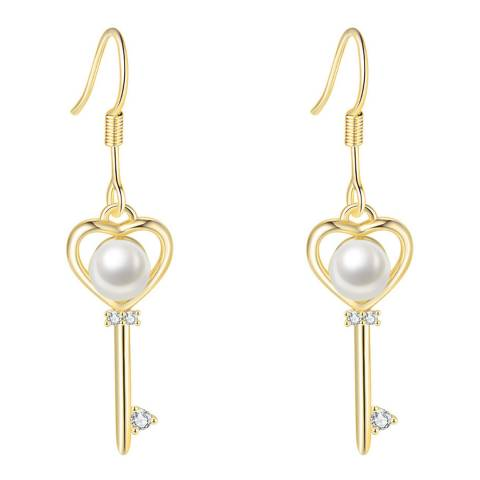 Ma Petite Amie Gold Plated Earrings with Swarovski Elements