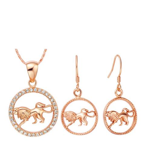 Ma Petite Amie Rose Gold Plated Leo Jewellery Set with Swarovski Crystals
