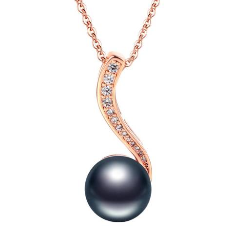 Ma Petite Amie Rose Gold Plated Drop Necklace with Swarovski Elements