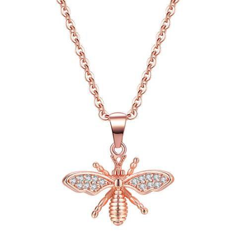 Ma Petite Amie Rose Gold Plated Bee Necklace with Swarovski Elements