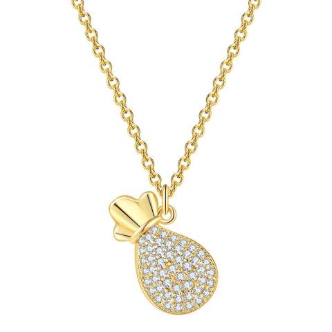 Ma Petite Amie Gold Plated Necklace with Swarovski Elements