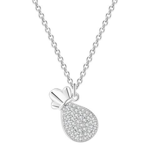 Ma Petite Amie White Gold Plated Pineapple Necklace with Swarovski Elements