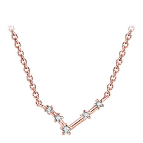 Ma Petite Amie Rose Gold Plated Necklace Aries with Swarovski Elements