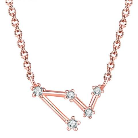Ma Petite Amie Rose Gold Plated Necklace Capricorn with Swarovski Elements
