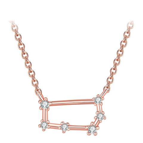 Ma Petite Amie Rose Gold Plated Necklace Gemini with Swarovski Elements