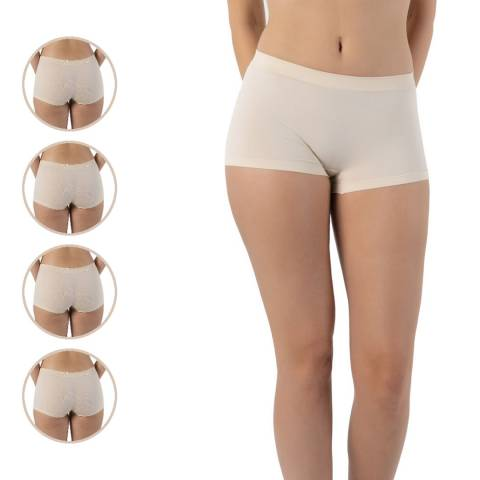 Formeasy 4 Pack Beige Seamless Short Panty