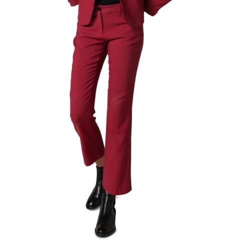 Gerard Darel Pink Wool Blend Flared Trousers