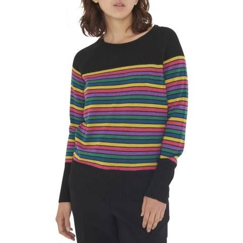 Gerard Darel Multi Stripe Wool Blend Jumper