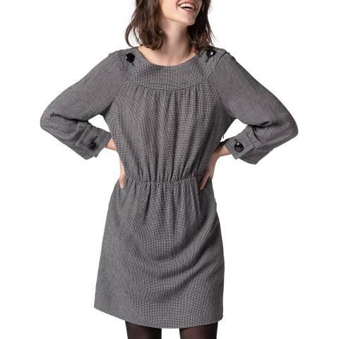 Gerard Darel Grey Wool Blend Mini Dress