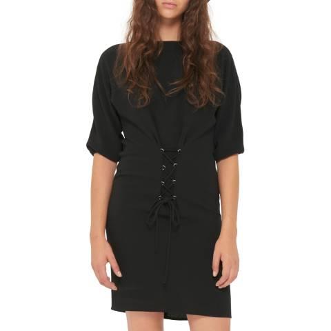 Gerard Darel Black Cross Stitch Dress