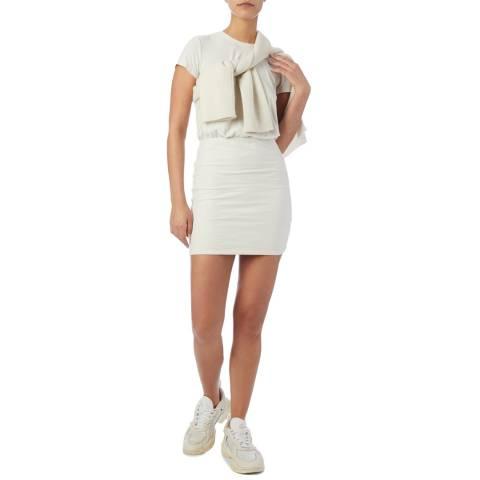 James Perse White Blouson T-Shirt Dress