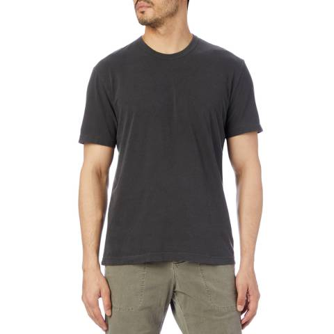 James Perse Charcoal Graphic Crew Neck T-Shirt