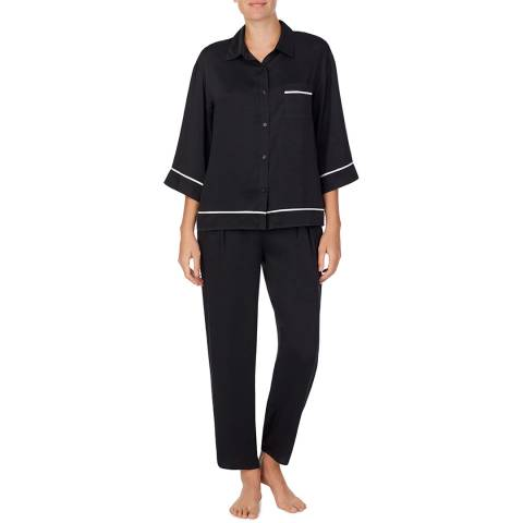 Donna Karan Black Painted Dream Top & Pant Set