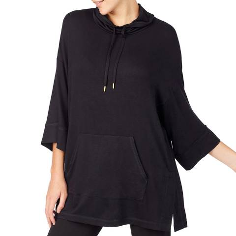 Donna Karan Black Modern Comforts Poncho