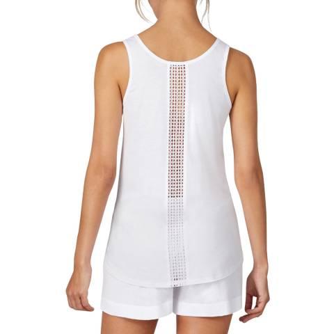 Donna Karan White Cotton Lux Tank & Boxer Shorts