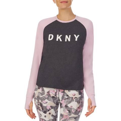 DKNY Carbon/Pink A Step Ahead L/S Tee