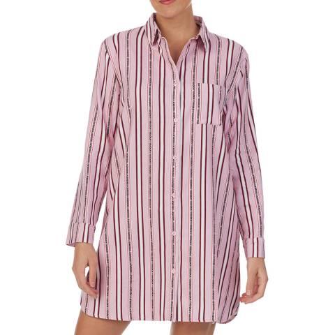 DKNY Pink Stripe 100% Dkny Sleepshirt
