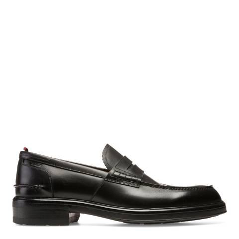 BALLY Black Mody Leather Loafers