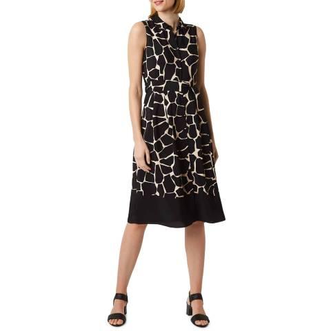 Hobbs London Black Print Suzanna Dress