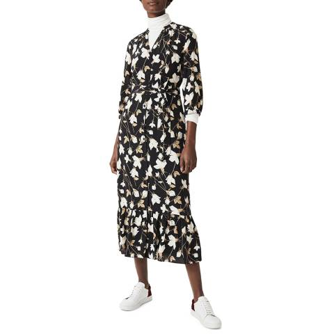 Hobbs London Black Floral Magda Dress