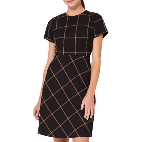 Hobbs London Black Check Evie Dress