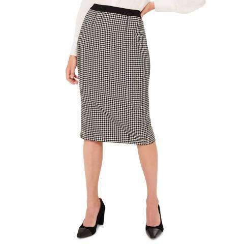 Hobbs London Black Print Rhiannon Skirt