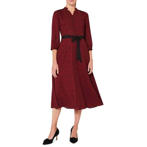 Hobbs London Deep Red Cece Shirt Dress