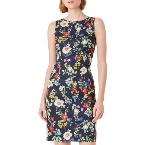 Hobbs London Navy Floral Print Moira Dress