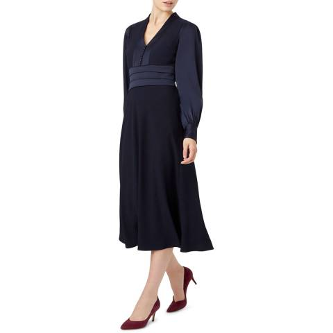 Hobbs London Navy Josephine Dress
