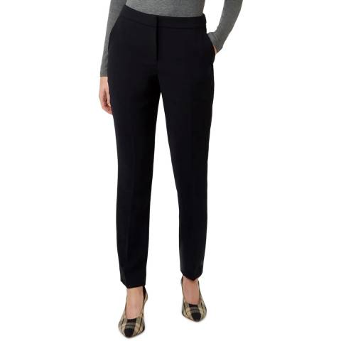Hobbs London Navy Petite Mina Slim Trousers