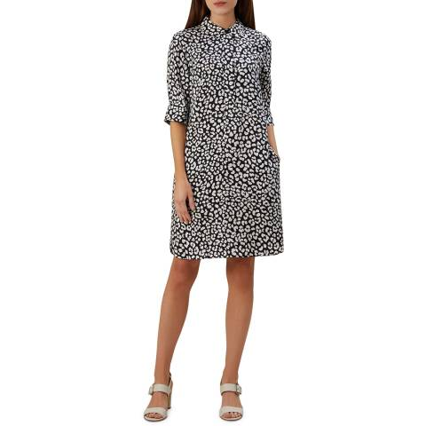 Hobbs London Navy Marciella Dress