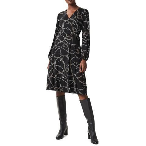 Hobbs London Black Print Strephanie Dress