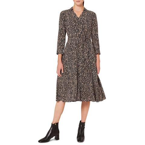 Hobbs London Multi Animal Print Rosaline Dress