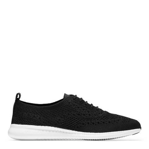 Cole Haan Black Zerogrand Wingtip Shoes