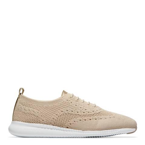 Cole Haan Beige 2.Zerogrand Wingtip Oxford Shoes