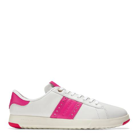 Cole Haan White/Pink GrandPro Tennis Classic Sneakers