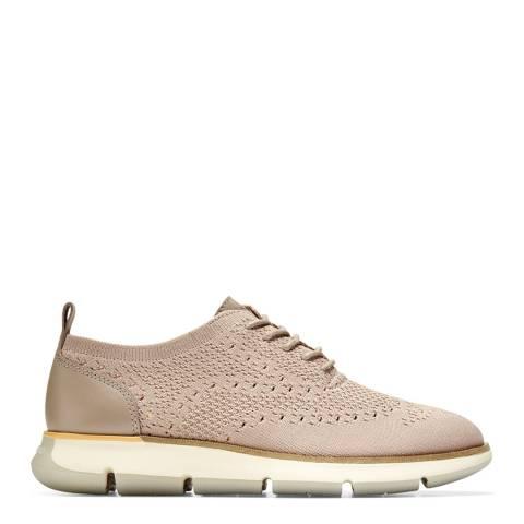 Cole Haan Beige 4.Zerogrand Stitch Oxford Shoes