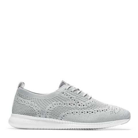Cole Haan Grey 2.Zerogrand Wingtip Oxford Shoes