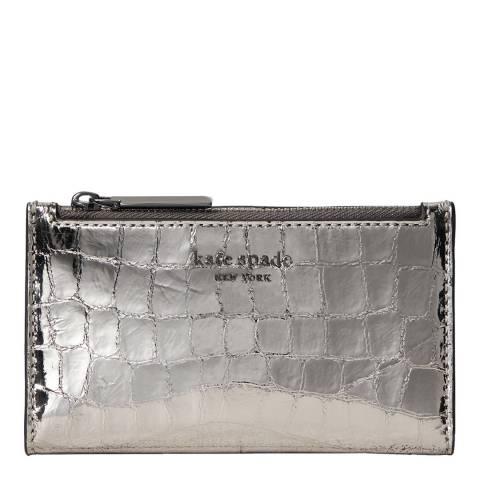 Kate Spade Gunmetal Small Slim Bifold Wallet