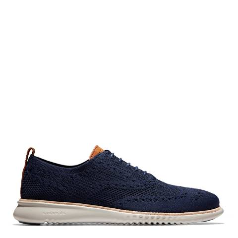 Cole Haan Marine Blue 2.Zerogrand Wingtip Oxford Shoes