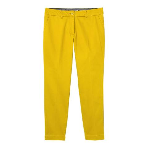 White Stuff Yellow Printed Sussex 7/8 Trouser
