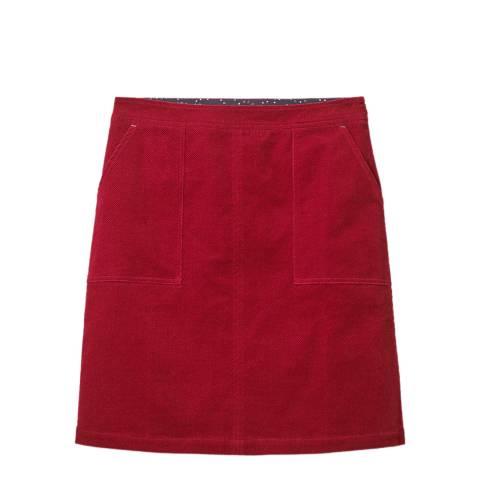 White Stuff Plum Cord A Line Cotton Skirt