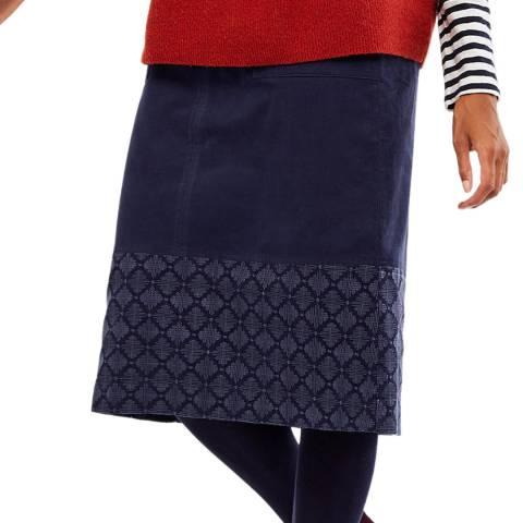 White Stuff Navy Georgia Cotton Skirt