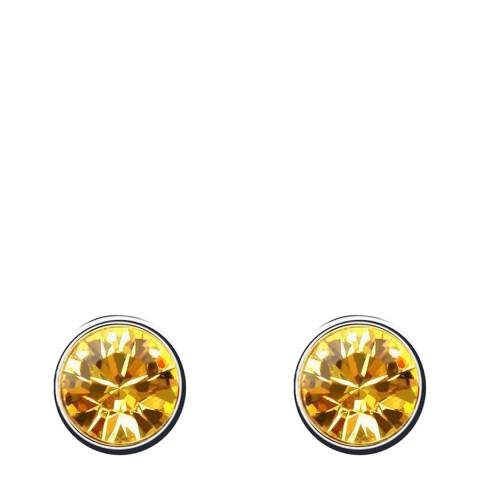Ma Petite Amie White Gold Plated/Yellow Earrings with Swarovski Crystals