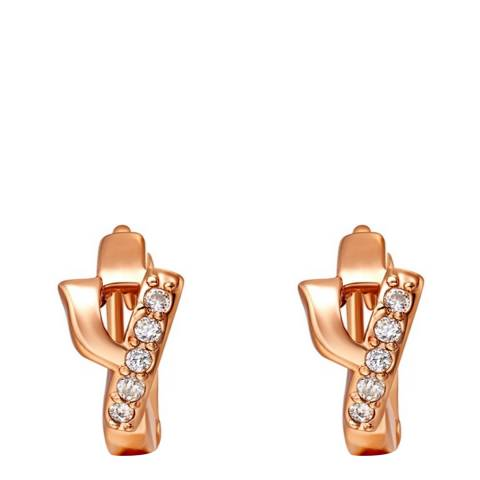 Ma Petite Amie Gold Plated 'Y' Initial Earrings with Swarovski Crystals