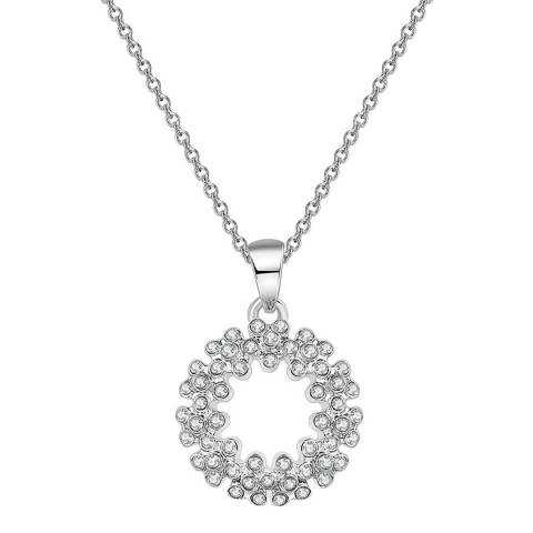 Ma Petite Amie White Gold Plated Pendant Necklace with Swarovski Elements