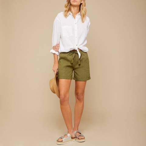 N°· Eleven Khaki Linen Short