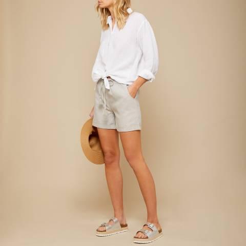 N°· Eleven Stone Grey Linen Short
