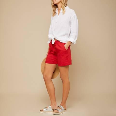 N°· Eleven Red Linen Short