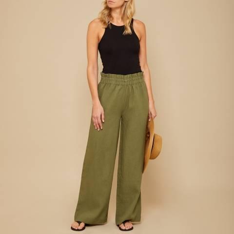 N°· Eleven Khaki Linen Paperbag Trouser